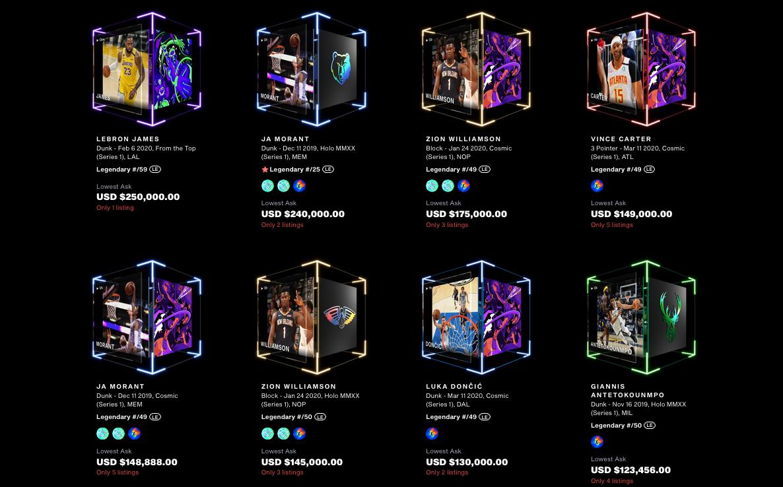 NBA Top Shot najdroższe momenty